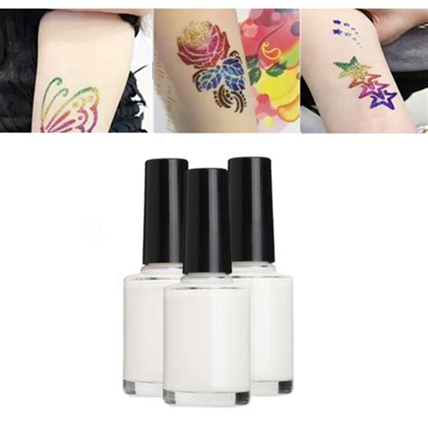 pc ml glitter tattoo glue gel  long lasting