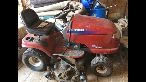 sears craftsman lawn tractor   mower deck youtube