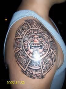 Aztec Sun and Moon Tattoos Designs