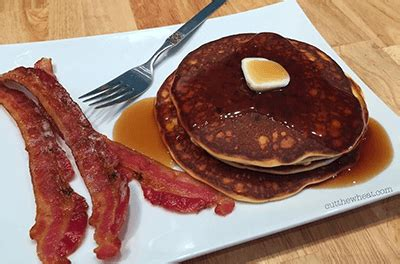 fluffy  carb chocolate chip pancakes cut  wheat