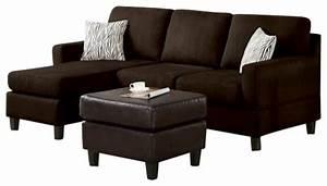 2 piece chocolate microfiber reversible chaise sectional With 2 piece microfiber sectional sofa
