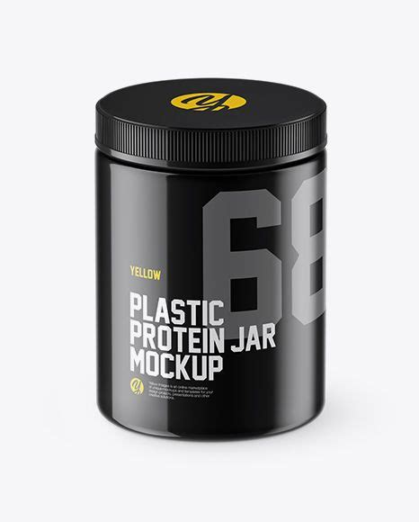 All objects are separate layer groups with plenty of layers for more control.file type: Free Mockups Glossy Plastic Protein Jar Mockup (High-Angle ...