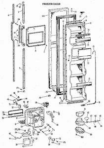 Freezer Door Diagram  U0026 Parts List For Model Tfx24rlb Ge