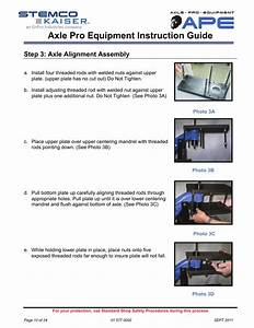 Axle Pro Equipment Instruction Guide  Step 3  Axle