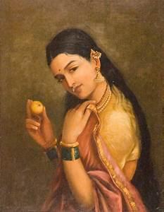File:Raja Ravi Varma - Woman Holding a Fruit - Google Art ...