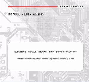 Renault T High Truck Wiring Electric Diagram Service M