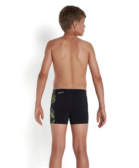 sporty swim store speedo junior boys allover panel aqua