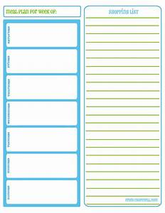 meal planner with grocery list grocery list template With meal planning template with grocery list