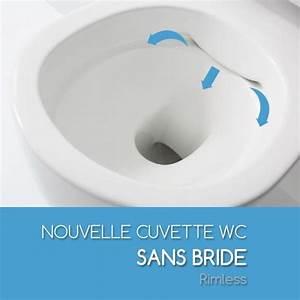 Wc Suspendu Sans Bride : wc suspendu sans bride saneo avec son abattant silencieux ~ Dailycaller-alerts.com Idées de Décoration