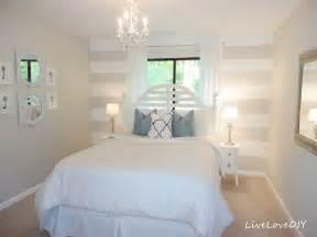 schlafzimmer streichen livelovediy diy striped wall guest bedroom makeover