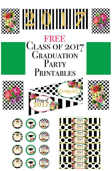 Class Of 2017 Free Floral Graduation Party Printables. Letter Of Reference Template. Business Card Template Blank. California Graduate School Of Theology. Simple Hr Executive Cover Letter. Brooklyn College Graduate Programs. Save The Date Event. Credit Card Size Template. Invitation Flyer Template