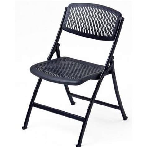 Plastic Folding Chairs Home Depot by Hdx Flex Folding Chair In Black 2ff0010p The Home Depot