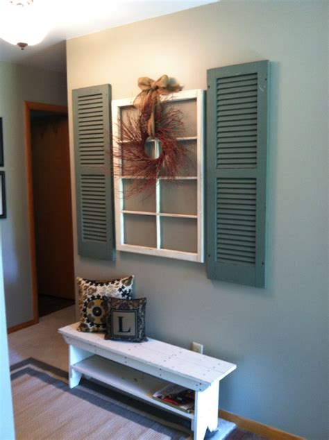 Decorating Ideas For Shutters by Simple Decor For An Entry Way Home Decor Home Decor
