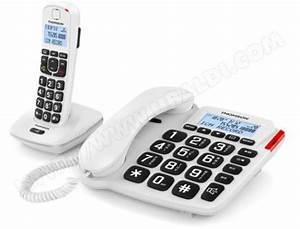 Combiné Téléphone Fixe : t l phone filaire combin dect thomson comby blanc pas cher ~ Medecine-chirurgie-esthetiques.com Avis de Voitures