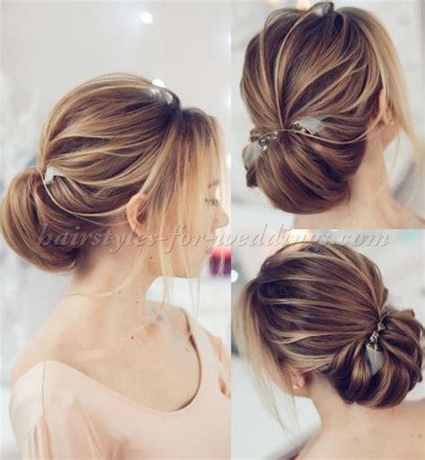 low bun wedding hairstyles   chignon wedding hairstyle