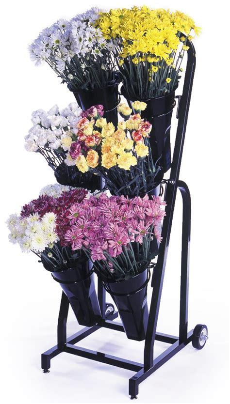 floral display rack wheels sign holder included