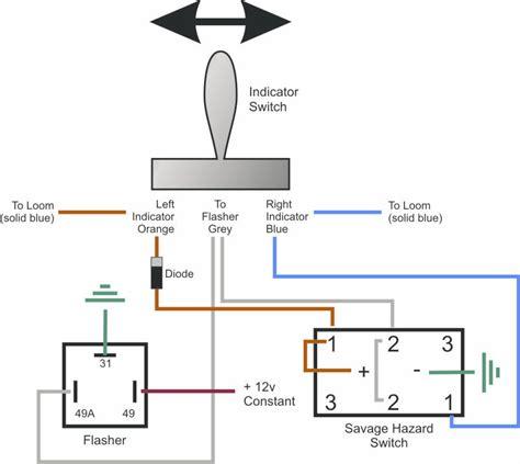 Indicator Light Wiring Diagram by Savage Hazard Switch As A Warning Light