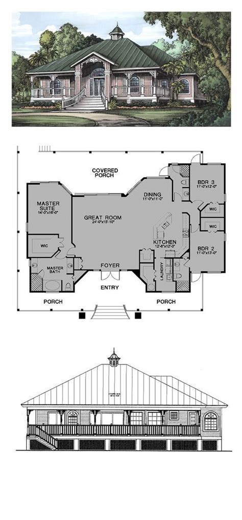 story style house plan    bed  bath cracker house  house plans   plan