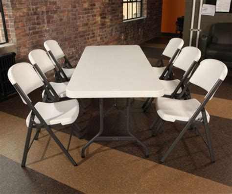 lifetime tables and chairs 22 new lifetime 2900 6 39 almond folding banquet tables