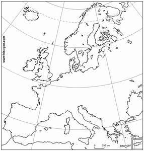 Carte vierge sur l'Union Européenne (UE) (Parallèles ...