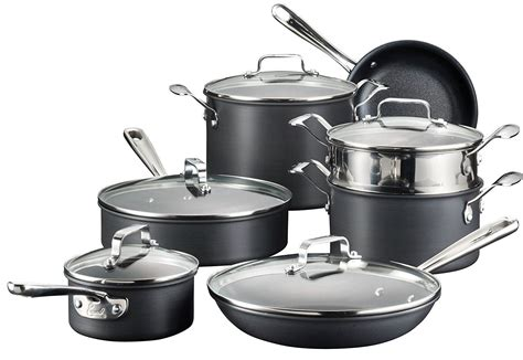 emeril   clad esc hard anodized nonstick dishwasher safe oven safe cookware set