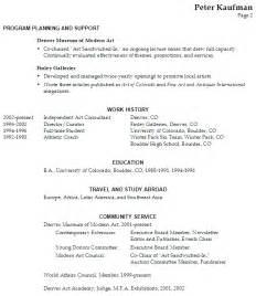 performing arts resume builder resume sle executive director performing arts