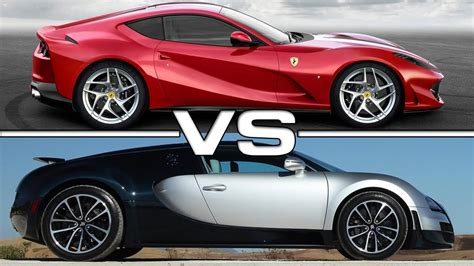 Ferrari 812 Superfast Vs Bugatti Veyron Super Sport