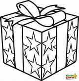 Coloring Gift Present Getdrawings sketch template