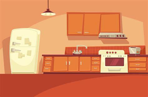 cartoon kitchen game scene animation background