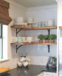 "kitchen corner shelves Shanty Sisters on Instagram: ""Simple corner shelves! We ..."