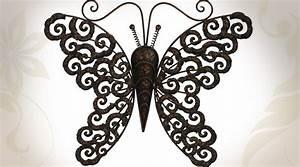 Papillon Décoration Murale : d coration murale papillon en m tal ~ Teatrodelosmanantiales.com Idées de Décoration