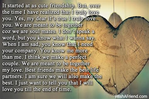 started   cute friendship romantic love letters