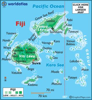 map  fiji fiji map geography  fiji map information