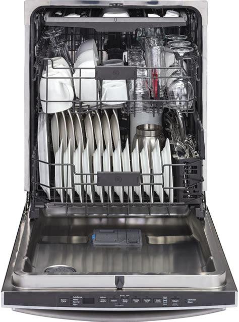 ge gdtsmjes   fully integrated dishwasher  stainless steel interior piranha food