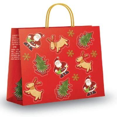 christmas cut  design bags paper carrier bags