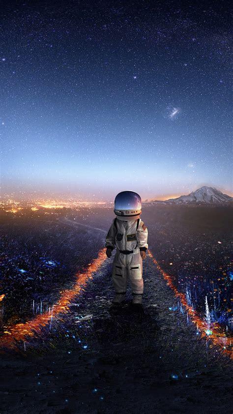 wallpaper astronaut surreal signal hd creative