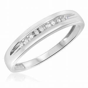 1 15 ct tw diamond men39s wedding band 14k white gold With white gold 14k wedding ring