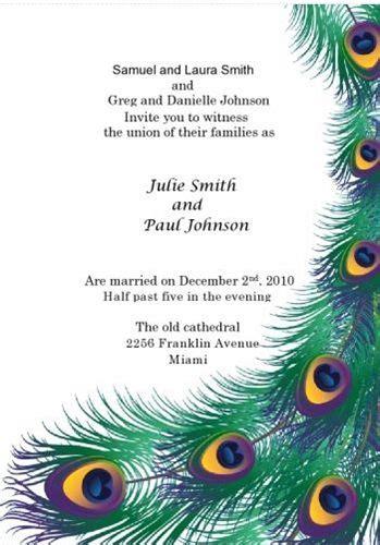 printable peacock wedding invitation templates kit