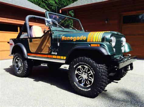 renegade jeep cj7 1979 jeep cj7 renegade quot beautiful quot used classic jeep