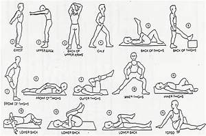 Back Stretches Diagrams