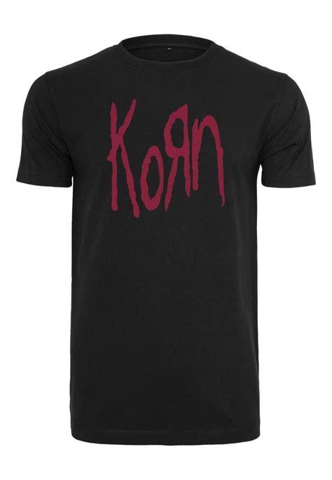 korn logo t shirt t shirts herrkl 228 der dunken se