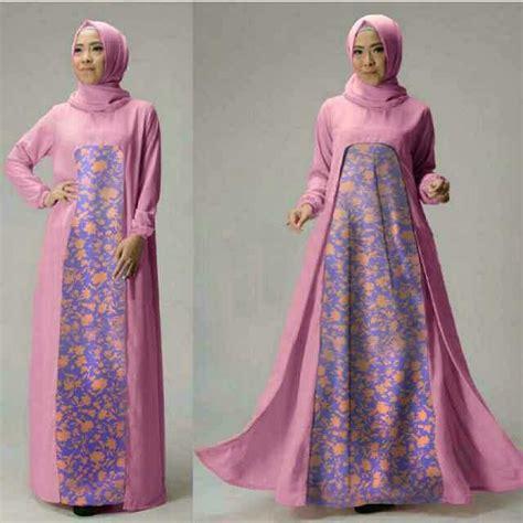 model baju setelan gamis muslim wanita terbaru  modern