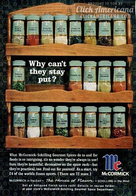 mccormick spice rack mccormick schilling spice racks 1964 click americana