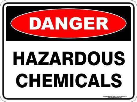 hazardous chemicals australian safety signs