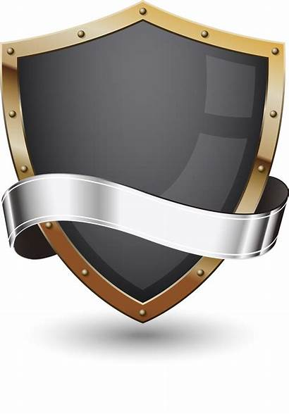 Shield Transparent Background Vector Metal Escudo Protection