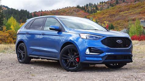 2019 ford edge 2019 ford edge st and edge titanium drive review