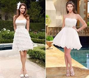 Cheap short beach wedding dress 2018 goostylescom for Short white beach wedding dresses