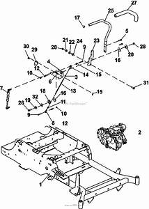 Bunton  Bobcat  Ryan 942600ca Crz Fr600v Kaw W  48 Side Discharge Parts Diagram For Steering
