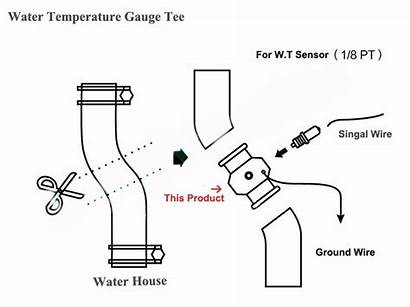 Gauge Water Temp Wiring Autometer Temperature Valve