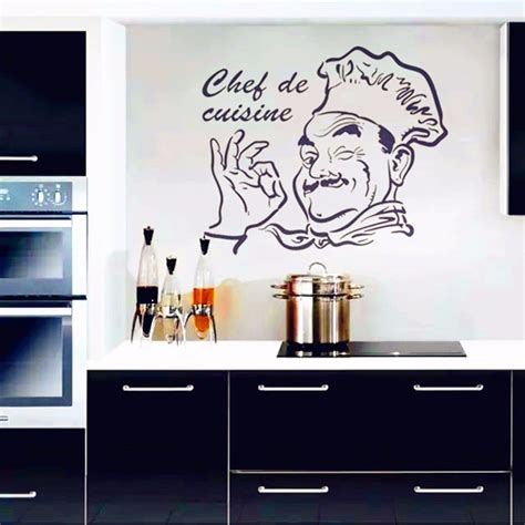 stickers de cuisine kitchen wall stickers chef de cuisine removable wall